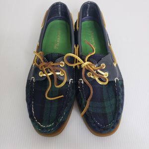 Sperry Plaid Boat Shoes Women's Size 8.5 Medium